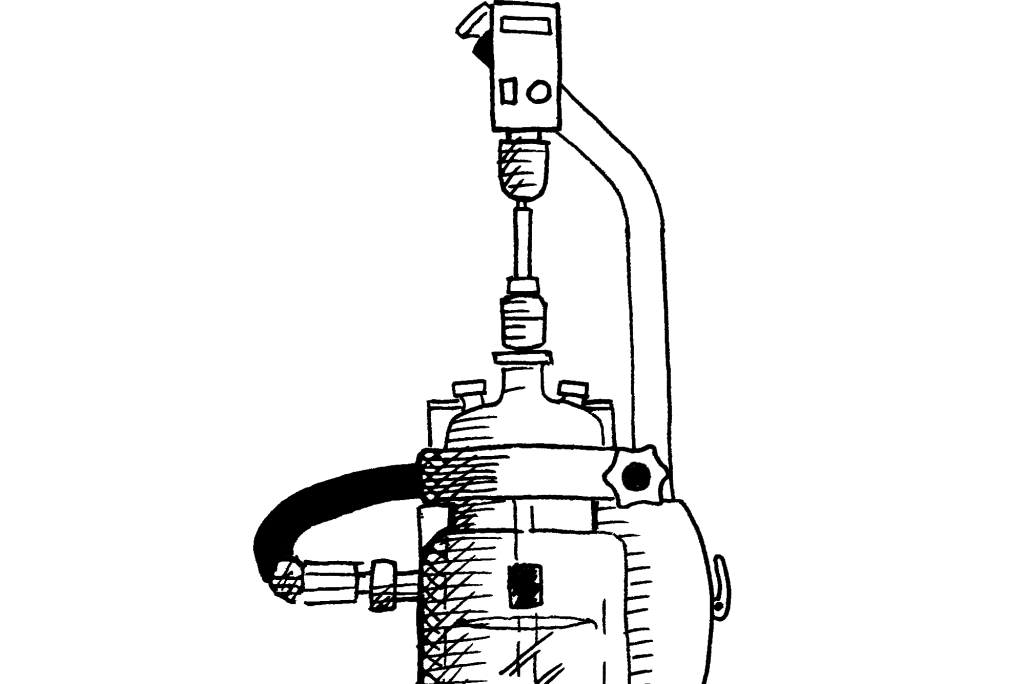 A sketch of the Syrris Orb jacketed reactor