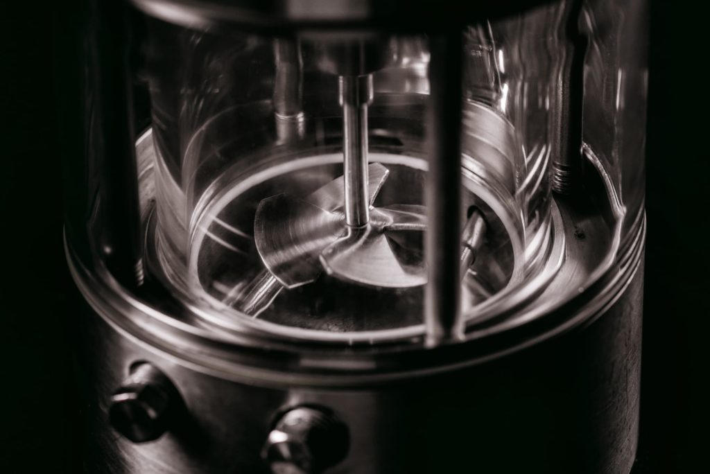 A close up photograph of the Chemisens Calorimeter Impeller
