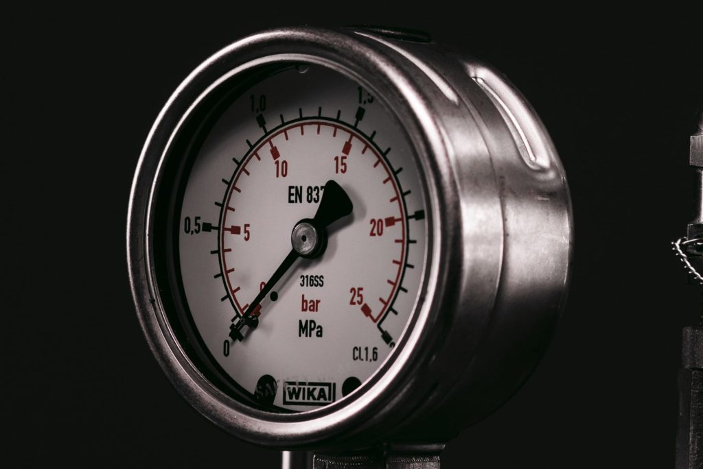 A photograph of the Chemisens Calorimeter Pressure Meter