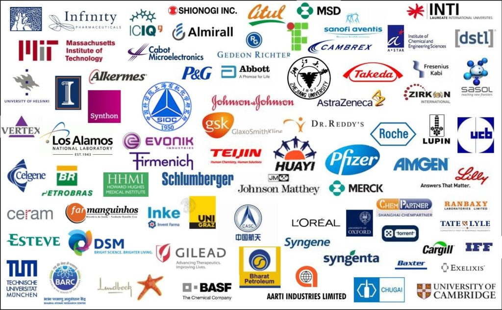 A picture of brand logos from a selection of the companies Syrris works with