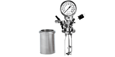 High pressure vessel and lid for Syrris Atlas 200 bar pressure systems