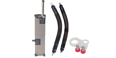 Atlas oil drain unit, oil pipe tidy, and oil pipes for Syrris Atlas HD automated chemistry systems