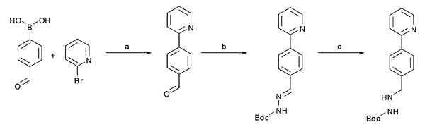 A three step continuous flow synthesis of the biaryl unit of the HIV protease inhibitor Atazanavir