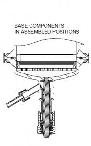 Figure 2 - Fully secured Atlas Filter Vessel assembly in cross-section
