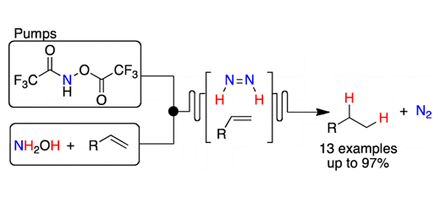 Hydrogen-Free Alkene Reduction in Continuous Flow