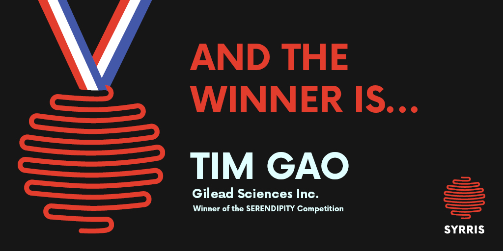 Syrris SERENDIPITY Competition Announcement - Tim Gao of Gilead Sciences Inc. is the winner!