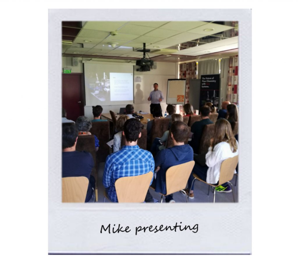 Mike presenting