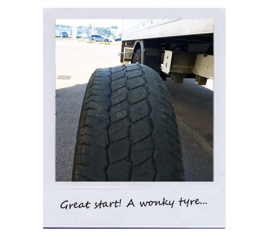 Wonky tyre