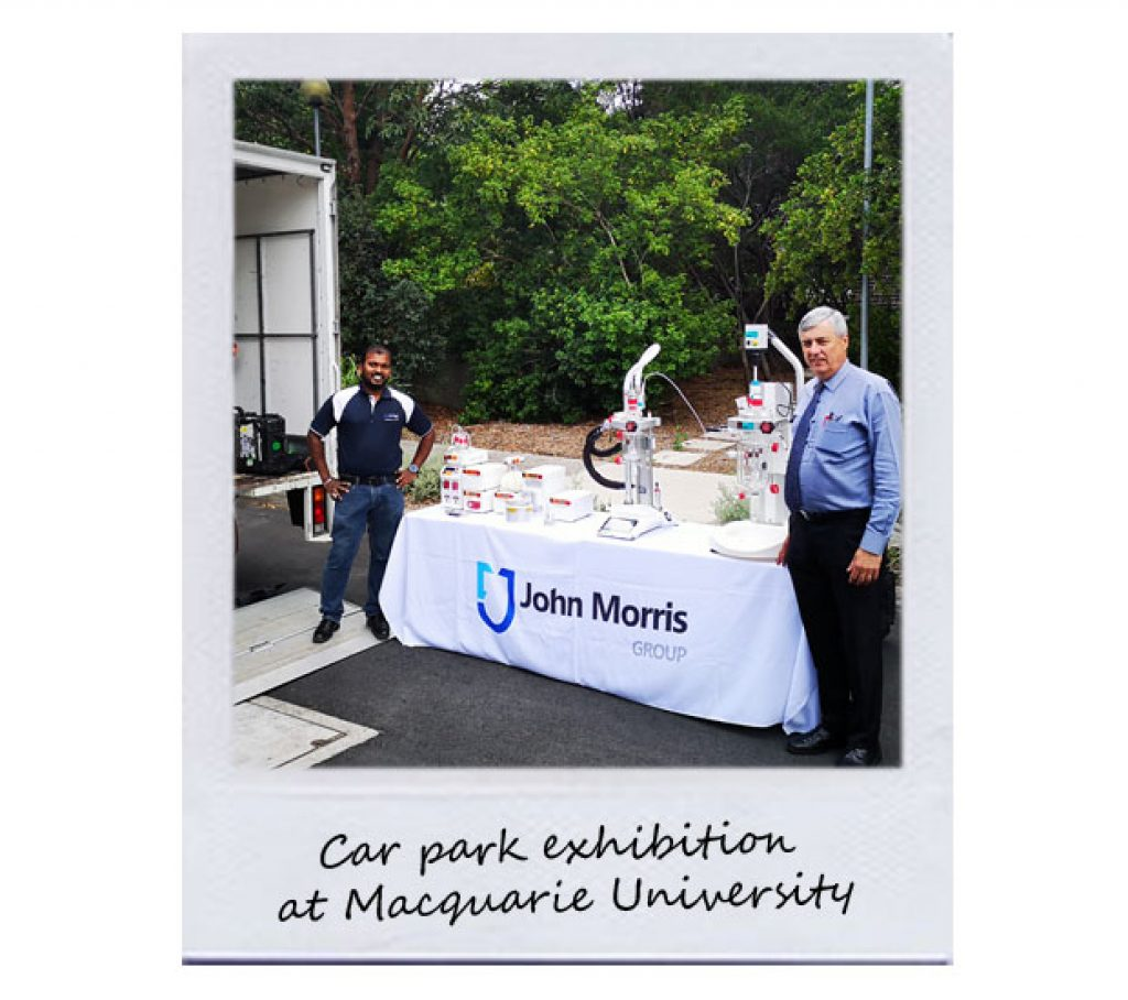 Car park exhibition at Macquarie University