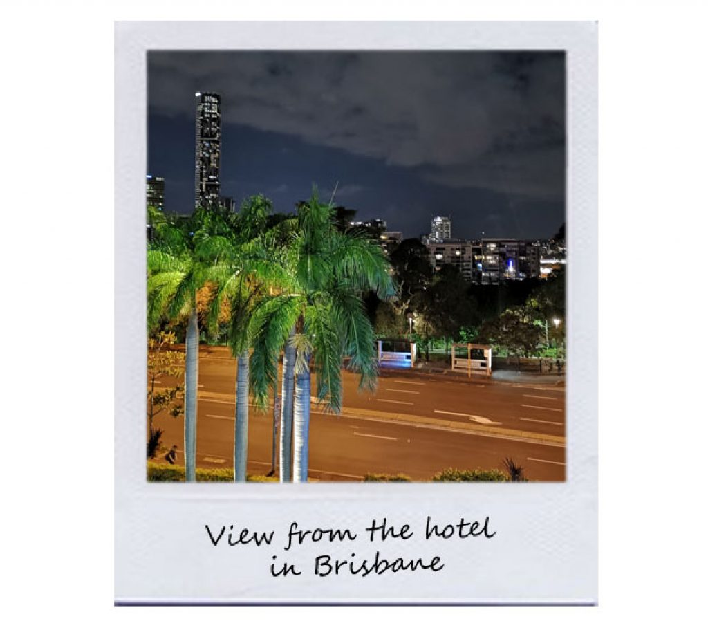 View from the hotel in Brisbane